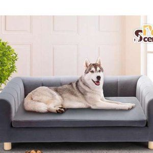 Petscene XL Pet Bed Chaise Style Dog Bed Couch Sof